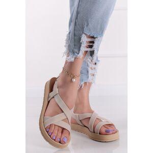 Béžové gumové sandály Modern Sandal