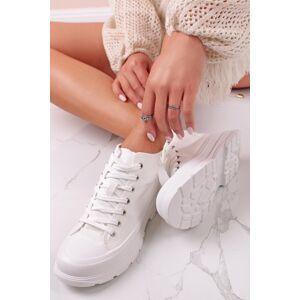 Bílé kotníkové tenisky Davon