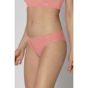 Světle růžové brazilské kalhotky Zero Feel Tanga Ex