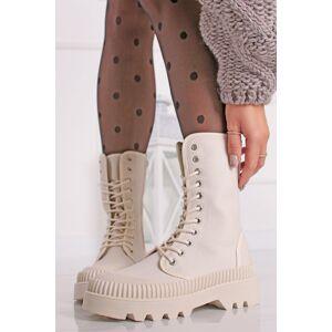 Béžové šněrovací boty Dianne