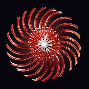 PATRIZIA VOLPATO Červené stropní světlo RONDO ze skla Murano