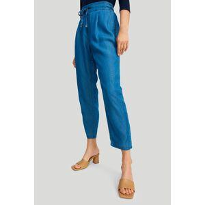 Modré kalhoty z lyocellu 429