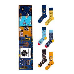Vícebarevné ponožky v dárkové krabičce Hobby Set - trojbalení