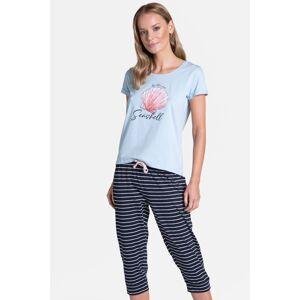Modrý tříčtvrťový pyžamový set Tickle Long