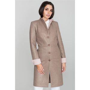 Světle hnědý kabát M588