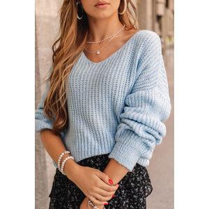 Světlemodrý oversize pulovr ELR014