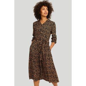Černo-béžové vzorované midi šaty 549