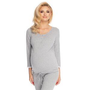 Světle šedý těhotenský pyžamový set 0181