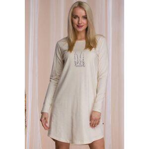 Béžová bavlněná noční košile LND 941