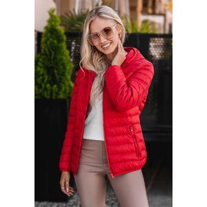 Červená prošívaná bunda CLR013