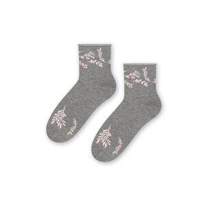 Šedé vzorované ponožky 099