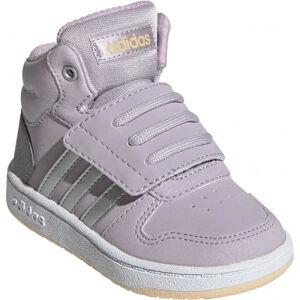 adidas HOOPS MID 2.0 I fialová 25 - Dětská volnočasová obuv