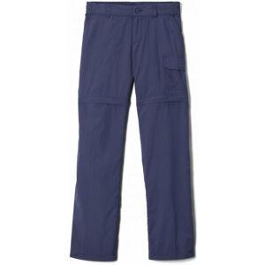 Columbia SILVER RIDGE IV CONVERTIBLE PANT tmavě modrá L - Dětské outdoorové odepínatelné kalhoty