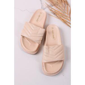 Béžové nízké pantofle Niora
