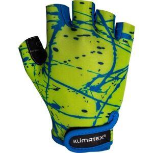 Klimatex ALED světle zelená 10 - Dětské cyklistické rukavice