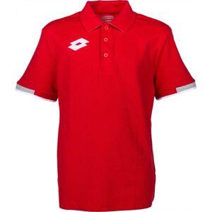 Lotto POLO DELTA JR červená S - Chlapecké polo triko