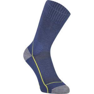 MONS ROYALE MTB 9 TECH tmavě modrá M - Dámské cyklistické ponožky z merino vlny