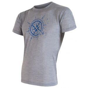 Sensor MERINO WOOL PT KOMPAS M šedá XXL - Pánské tričko